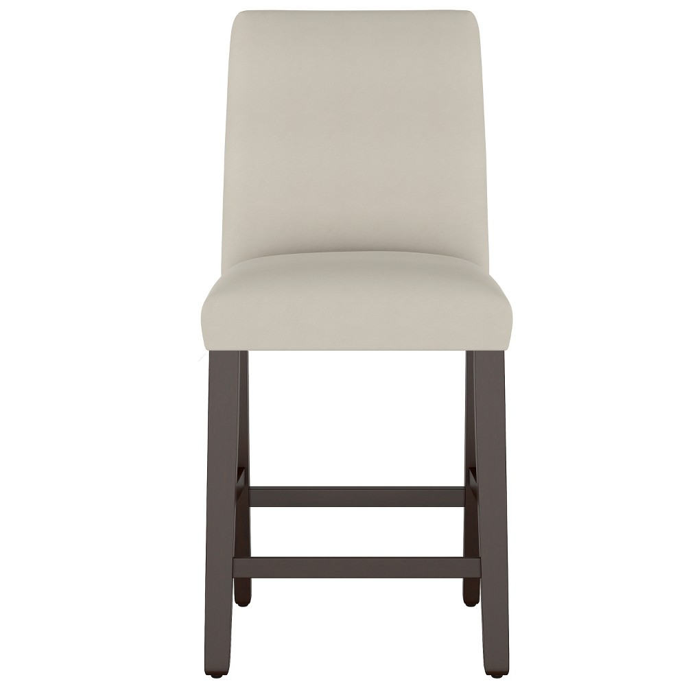 Modern Counter Stool Dove Gray Velvet - Project 62