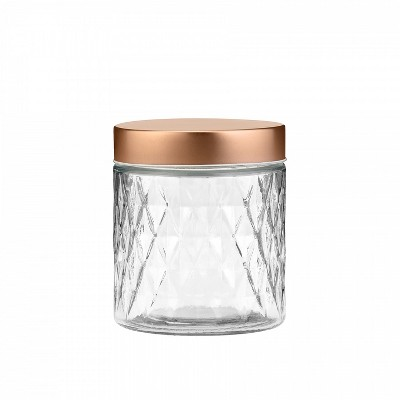 Amici Home Desmond Glass Canister, Assorted Set of 3 Sizes