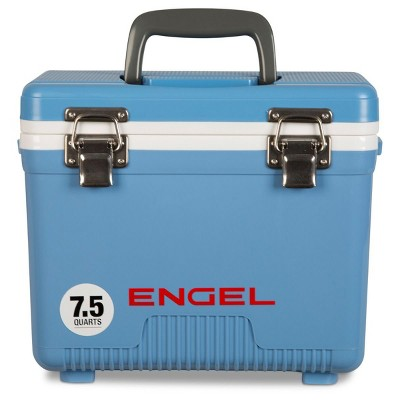 Engel 7.5-Quart 8-Can EVA Gasket Seal Ice and DryBox Cooler with Carry Handles and Shoulder Strap, Blue