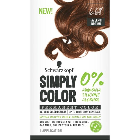 Schwarzkopf Simply Color Permanent Hair Color - 6.68 Hazelnut Brown - 5.7 fl oz - image 1 of 1
