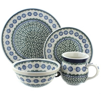 Blue Rose Polish Pottery Maia 4 Piece Place Setting - Service for 1