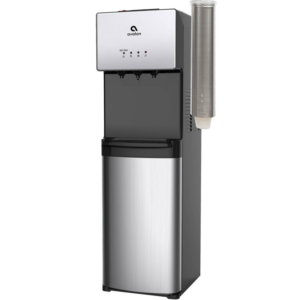 Image of Avalon Adjustable Pull-Type Cup Dispenser - Stainless Steel