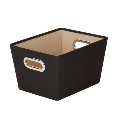 Honey-Can-Do Small Storage Bin Black