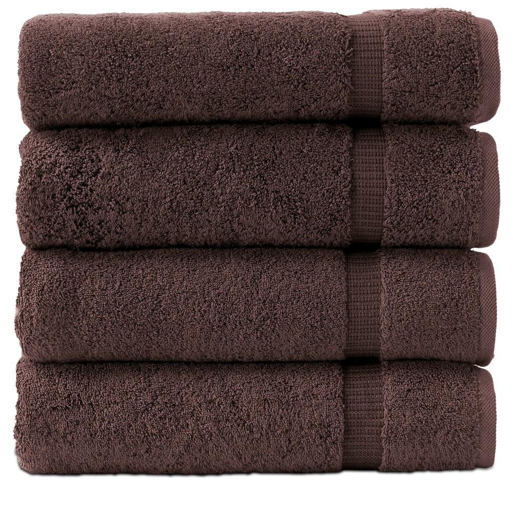 Image of 4pc Villa Bath Towel Set Brown - Royal Turkish Towel