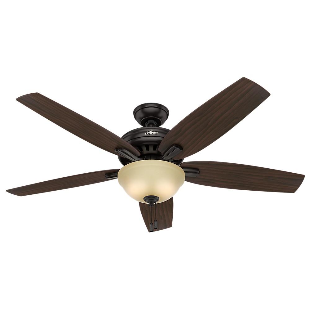 56 Newsome Premier Bronze Ceiling Fan with Light - Hunter Fan
