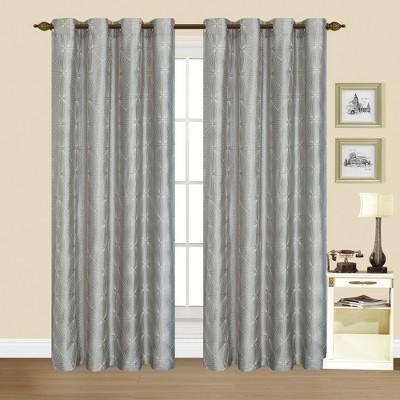 """Kashi Home Modern Woven Dana Window Curtain Drape panel, 1 Curtain panel - 54x84"""""""