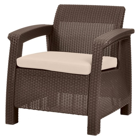 Corfu Resin Patio Armchair with Cushion - Keter - image 1 of 8