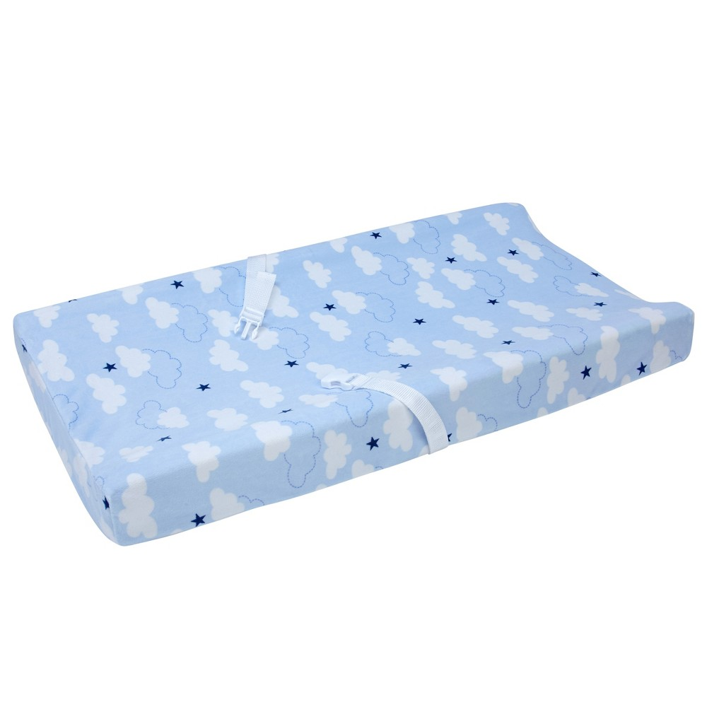 Image of Carter's Take Flight Airplane/Cloud/Star Changing Pad Cover, Blue