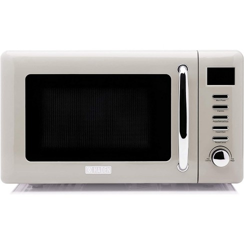 Haden 75030 Cotswold Dorset Vintage Retro 0.7 Cubic Foot/20 Liter 700 Watt Countertop Microwave Oven Kitchen Appliance with Turntable, Putty Beige - image 1 of 4