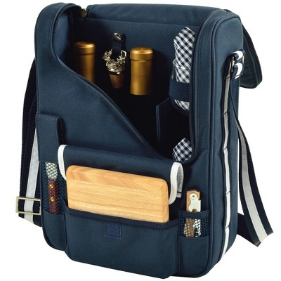 Picnic at Ascot - Wine Carrier Deluxe with Glass Wine Glasses and Accessories for Two