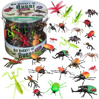 Hingfat Bug Action Figure Toy Playset, 30 Pieces