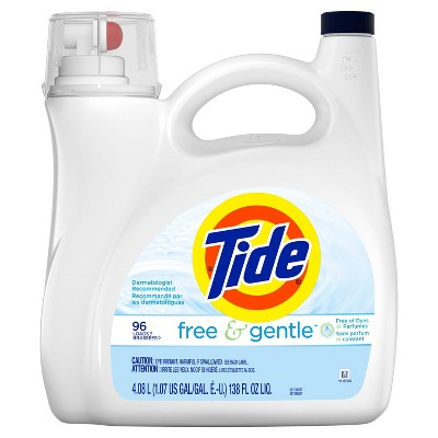 Tide Free & Gentle Liquid Laundry Detergent - 138 fl oz