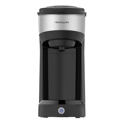 Frigidaire ECMK103 1 Cup Single Serve Coffee Maker with Fast Brew Technology and Single Touch Control for Home Kitchen Countertop Brewing, Black