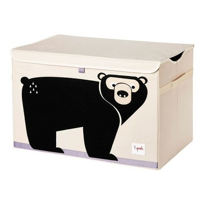 Bear Fabric Trunk Toy Bin - 3 Sprouts