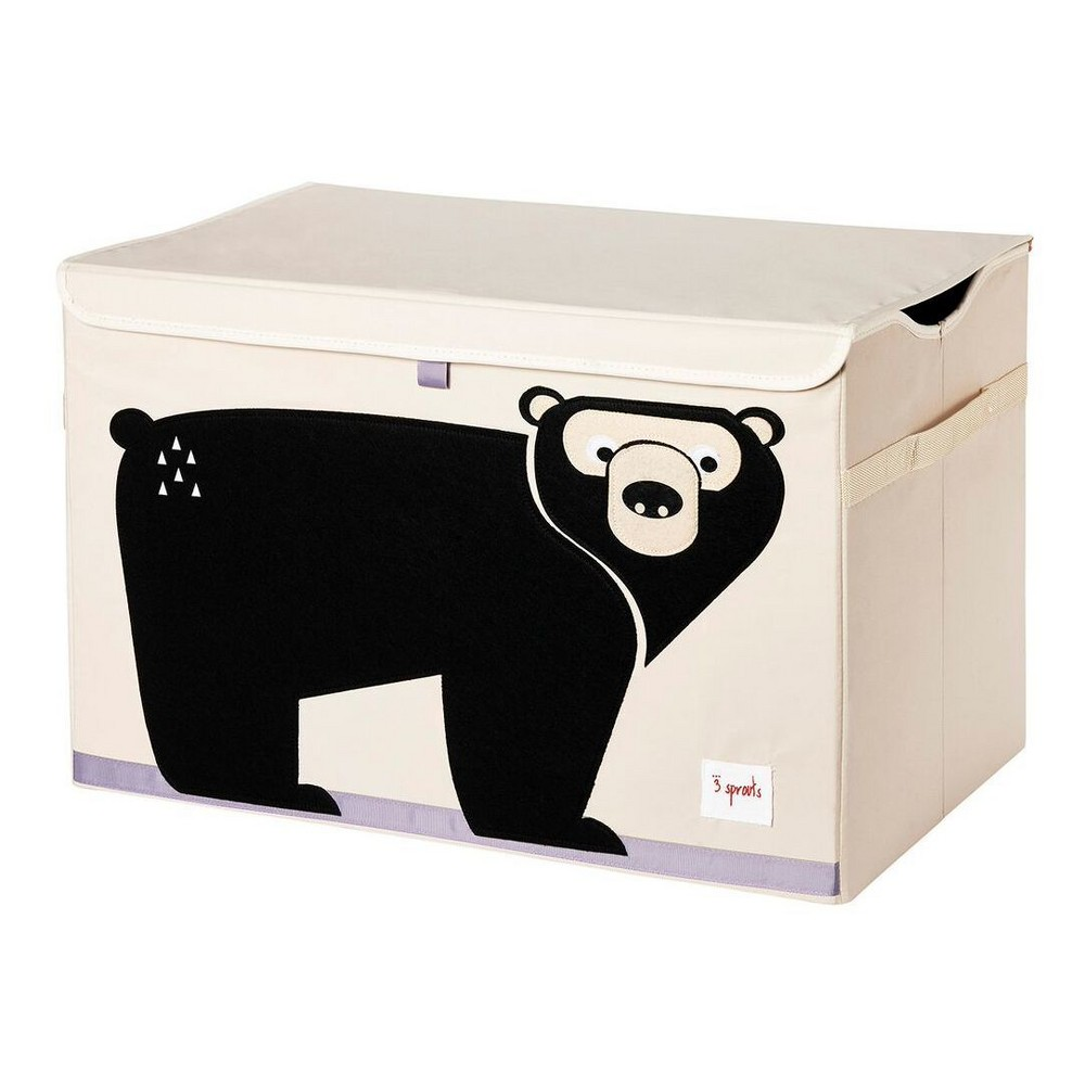 Image of Bear Fabric Trunk Toy Bin - 3 Sprouts