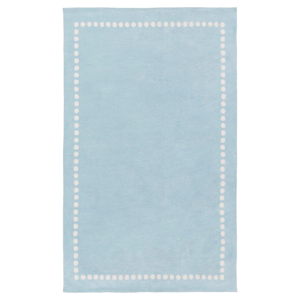 Pale Blue Lamoine Kid's Accent Rug (3'3