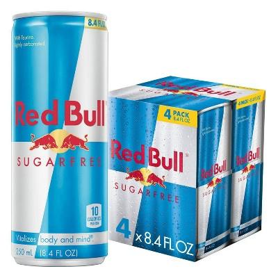 Red Bull Sugar Free Energy Drink - 4pk/8.4 fl oz Cans