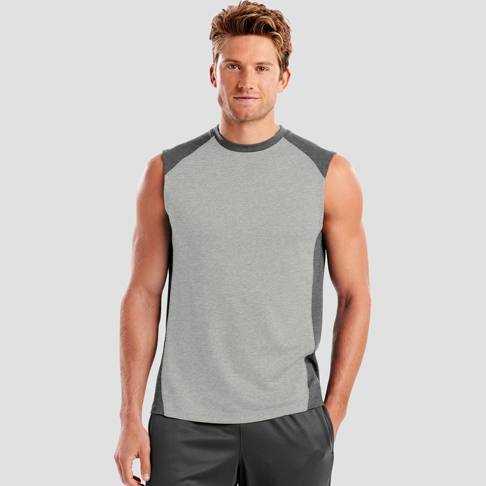 Hanes Men's Sport Performance Muscle T-Shirt - Oxford XL