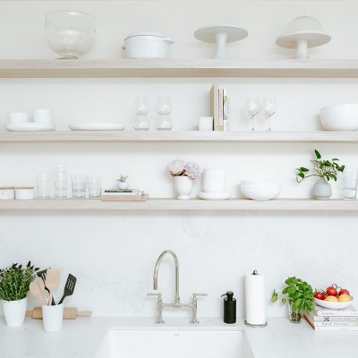 Kitchen with Open Shelving Collection Styled by Camille Styles