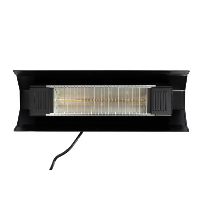 Black Steel Wall Mounted Infrared Patio Heater - Fire Sense