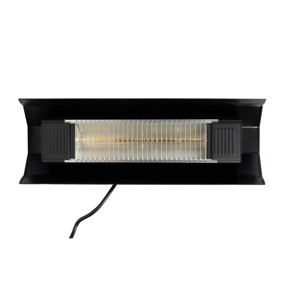 Image of Black Steel Wall Mounted Infrared Patio Heater - Fire Sense