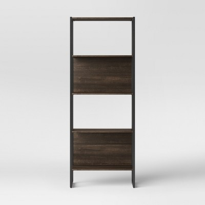 66.4  Paulo 4 Shelf Bookcase Midtone Brown - Project 62™