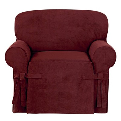 Suede Twill Chair Slipcover - Sure Fit