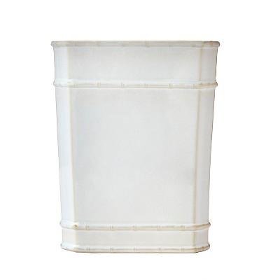 Vern Yip Bamboo Lattice Wastebasket White - SKL Home