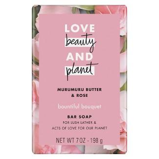 Love Beauty And Planet Muru Muru Butter & Rose Flower Bar Soap - 7oz