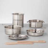 Deals on 7pk Stainless Steel Cookware Toy Set Hearth & Hand