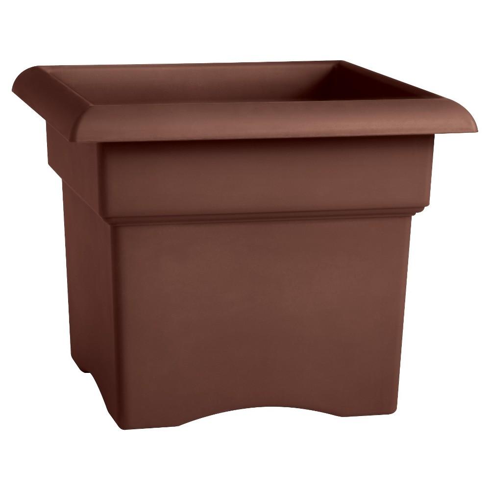 18 Square Veranda Deck Box Planter Chocolate (Brown) Bloem