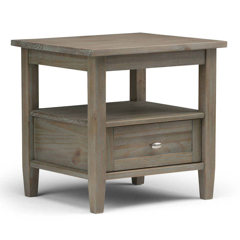 20 34 Norfolk End Table Distressed Gray Wyndenhall