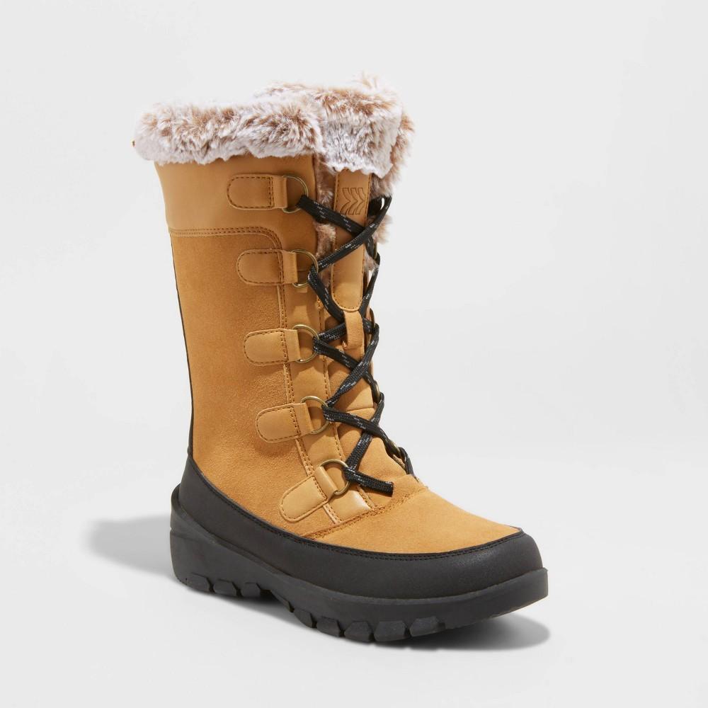 Women 39 S Cecily Wide Width Waterproof Winter Boots All In Motion 8482 Tan 6w