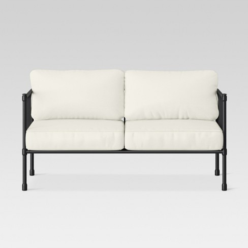 Fernhill Metal Patio Loveseat Linen - Threshold™ - image 1 of 9