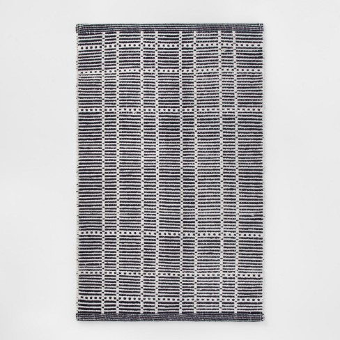 "1'8""X2'10"" Plaid Woven Accent Rug Blue - Room Essentials™ - image 1 of 3"