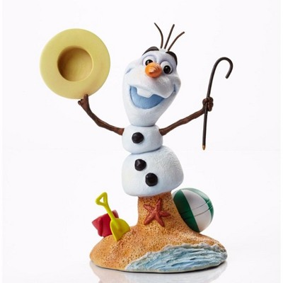 "Disney 6.5"" White and Orange Frozen Olaf with Beach Base Christmas Tabletop Decor"