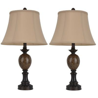 Mae Table Lamp Set Bronze (Lamp Only)- Decor Therapy