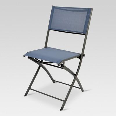 Folding Sling Patio Bistro Chair - Dark Blue - Threshold™