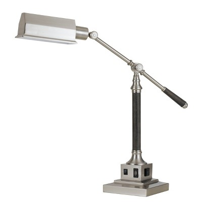 "36"" Angelton Desk Lamp Brushed Steel - Cal Lighting"