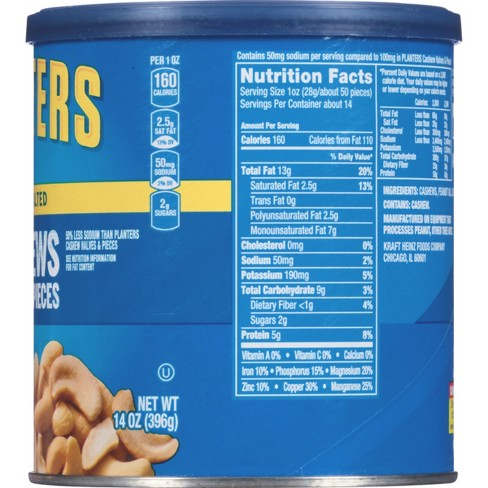 Planters Lightly Salted Halves And Pieces Cashews - 14oz : Target on planters salted peanuts, planters unsalted nuts, planters tube nuts, planters dry roasted peanuts,