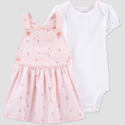 Baby Girls' 2pc Anchors Top & Bottom Set - Just One You® made by carter's Pink 18M