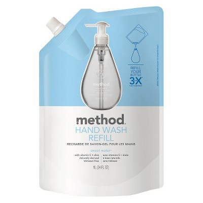 Method Gel Hand Soap Refill Sweet Water - 34oz