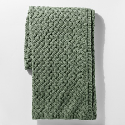 Green Sweater Knit Throw Blanket - Threshold™