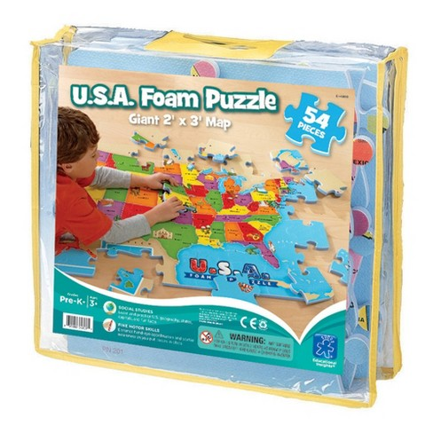 Educational Insights U.S.A. Map Foam Floor Puzzle - 54pc - image 1 of 3