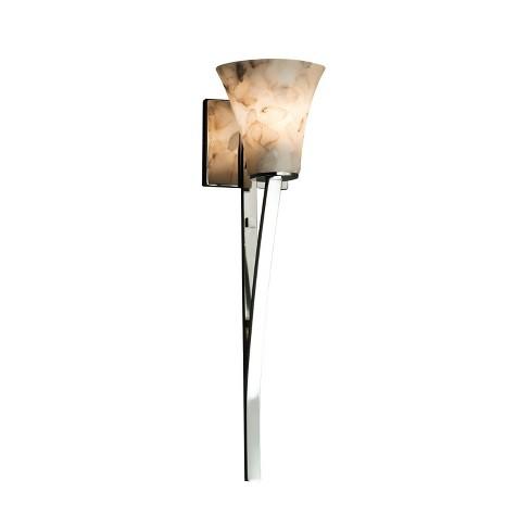 """Justice Design Group ALR-8791-20 Alabaster Rocks 5.75"""" Sabre 1 Light Wall Sconce - image 1 of 1"""