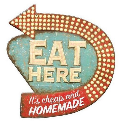 """Eat Here Wall Dcor (16""""x15"""") - 3R Studios - image 1 of 2"""