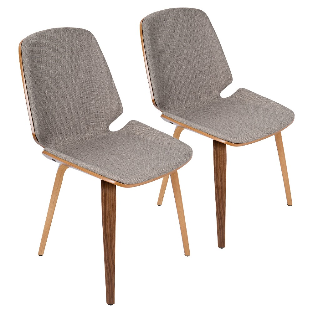 Coupons Set of 2 Serena Mid Century Modern Dining Chair Light Gray - LumiSource