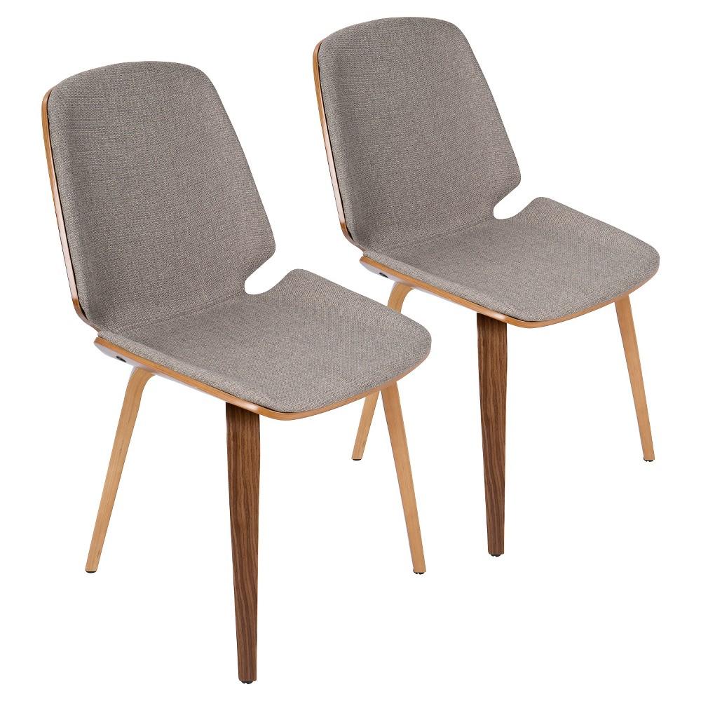 Serena Mid Century Modern Dining Chair (Set of 2) - Light Gray - LumiSource