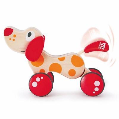 HAPE Wooden Walk-A-Long Rolling Puppy Pull Along