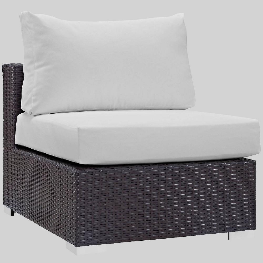 Convene Outdoor Patio Armless Chair - White - Modway